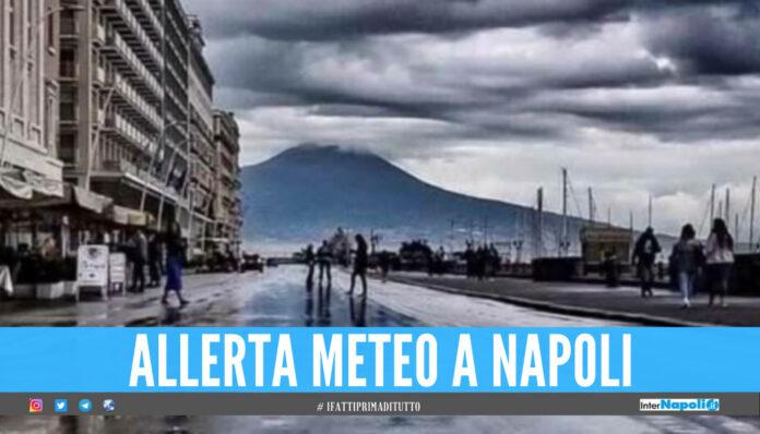 Continua l'allerta meteo in Campania, fino a domani ancora pioggia e temporali