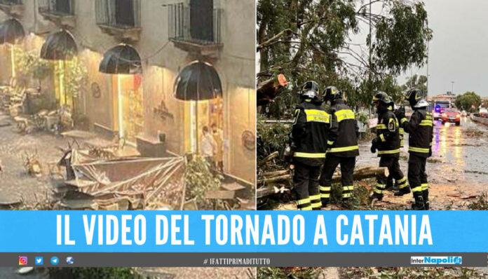 Tornado a Catania, pioggia e grandine seminano il caos in città: «Non uscite di casa»