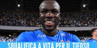 Cori razzisti contro Koulibaly, individuato il tifoso: «Squalifica a vita da tutti gli stadi»