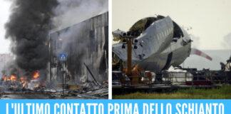 Aereo precipitato a Milano