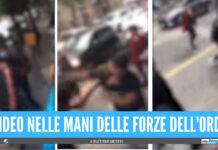 [Video]. Violenta rissa tra giovanissimi nel centro storico di Napoli, due contro uno fuori ad un bar