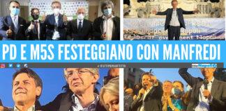 La festa del neo sindaco di Napoli Gaetano Manfredi