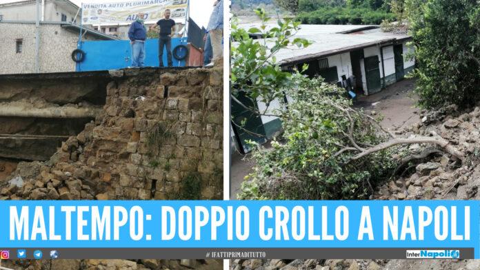 Doppio crollo a Napoli