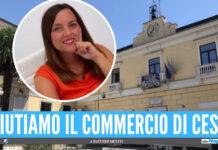 L'assessore al Commercio Francesca D'Agostino