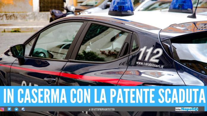 In caserma per l'obbligo di firma, ma ha la patente sospesa: 6mila euro di multa ad un 40enne di Marano