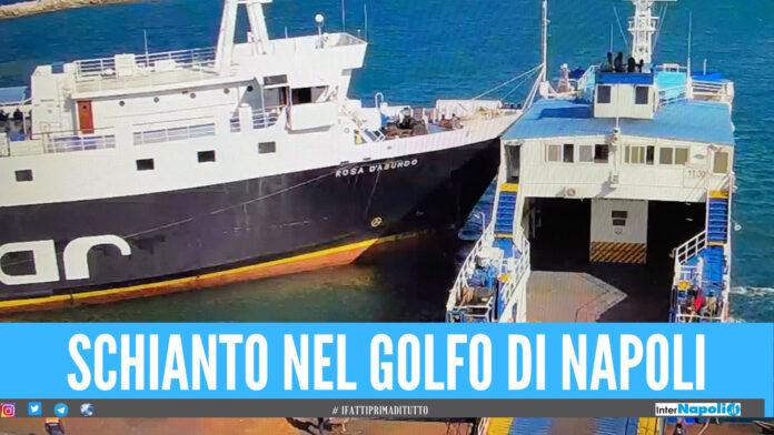 [VIDEO]. Paura nel golfo di Napoli, schianto tra due navi nel porto di Procida