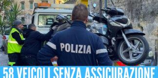 Illegalità a Napoli, sequestrati alla Sanità 58 moto e auto senza assicurazione